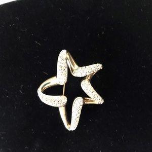 Crystal Rhinestone Star Shaped Pin Brooch